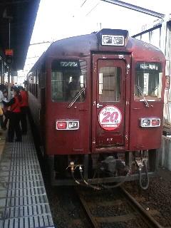 桐生駅にて